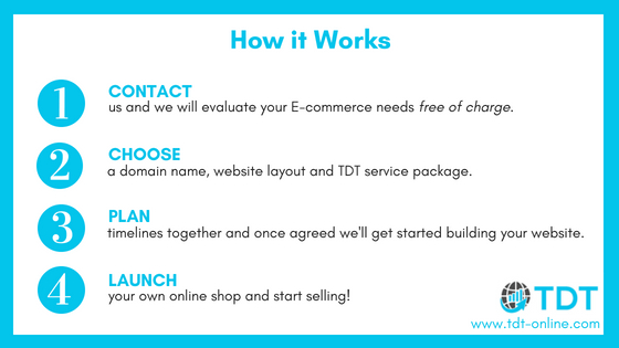 Launch your online shop with TDT